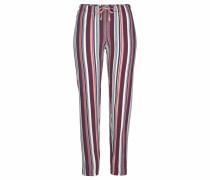 Pyjamahose dunkelblau / beere / rosa