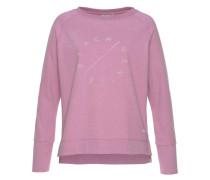 Sweatshirt 'Richi' lila / weiß