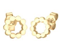 Ohrringe 'Kreis' gold