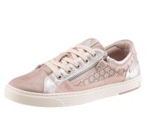 Sneaker mit Strass rosa / silber