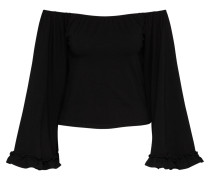 Off-Shoulder Shirt schwarz