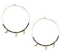 Ohrringe 'Tusk Charm Seedbead Hoops' gold