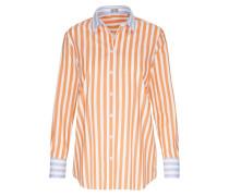 Hemdbluse hellblau / orange / weiß