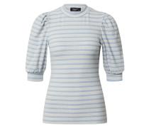 Shirt 'pany-Ss' offwhite / blau