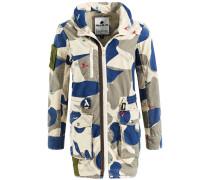 Mantel 'talitha' beige / blau / grau