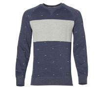 Sweatshirt 'Step' blau / graumeliert