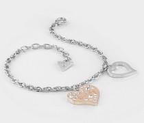 Armband 'Heart Warming' rosegold / silber
