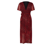 Kleider 'leopard Wrap Dress' rot
