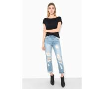 Jeans 'Kiya Ripped' rauchblau