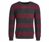 Pullover 'Jaky' dunkelgrau / rot