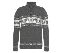 Pullover graumeliert / weiß