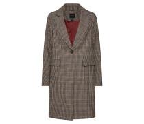 Mantel dunkelgrau / hellorange