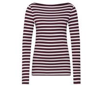 Shirt burgunder / weiß
