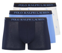 Boxershorts blau / opal / weiß