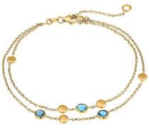 Armband '87482154' pastellblau / gold