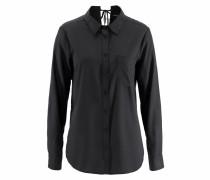 Klassische Bluse schwarz