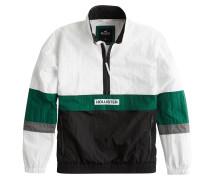 Jacke grün / weiß
