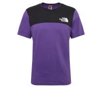 Shirt 'Himalayan' lila / schwarz