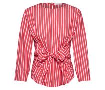 Bluse 'Flux stripe' rot / weiß