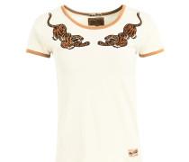 Shirt ' Iwalani CAT ' hellorange / weiß