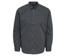 Hemd grau / basaltgrau / schwarz