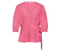 Bluse '3/4 Blouson SLV Wrap - Prt' pink