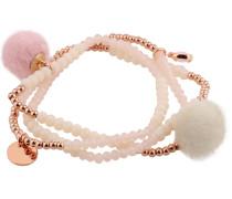 Armband 'Beads and Charms' rosa
