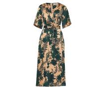 Kleid hellbeige / dunkelgrün