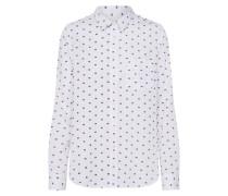 Bluse dunkellila / weiß