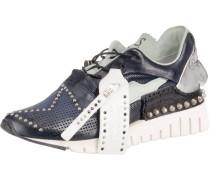 Sneakers Low kobaltblau / silber