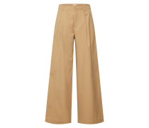Jeans 'hi-Rise Pleated Wide LEG Jpn' beige