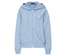Sweatshirtjacke hellblau