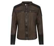 Jacke 'Mersey' khaki / schwarz