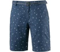 Shorts 'Cabber' blue denim / weiß