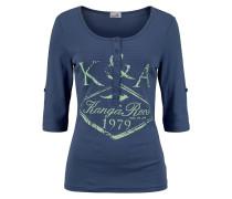 Shirt mit Print dunkelblau / kiwi