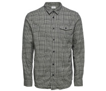 Hemd grau / schwarz