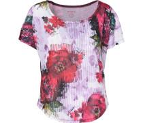 T-Shirt helllila / pink / merlot / weiß