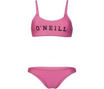 Bikini 'PW Sports Logo' pink / schwarz