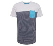 Shirt 'cosect' dunkelblau / hellgrau