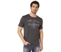 T-Shirt hellgrau / dunkelgrau