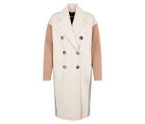 Mantel beige / hellbraun / grau
