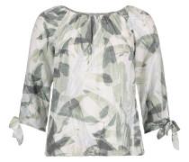 Blusenshirt khaki / mischfarben / weiß