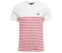Shirt 'Breton' rot / weiß