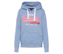 Sweatshirt hellblau / pink