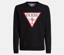 Sweatshirt feuerrot / schwarz / weiß