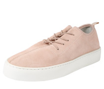 Sneaker aus Veloursleder rosa