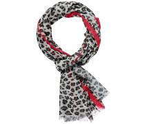 Schal rot / schwarz / weiß