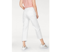 Boyfriend-Jeans '3301' white denim
