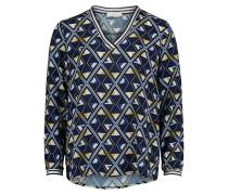 Bluse blau / enzian / goldgelb