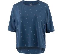 Printshirt dunkelblau